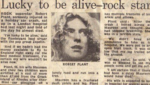 Συνέντευξη του Ρόμπερτ Πλαντ για το ατύχημα σε εφημερίδα της εποχής