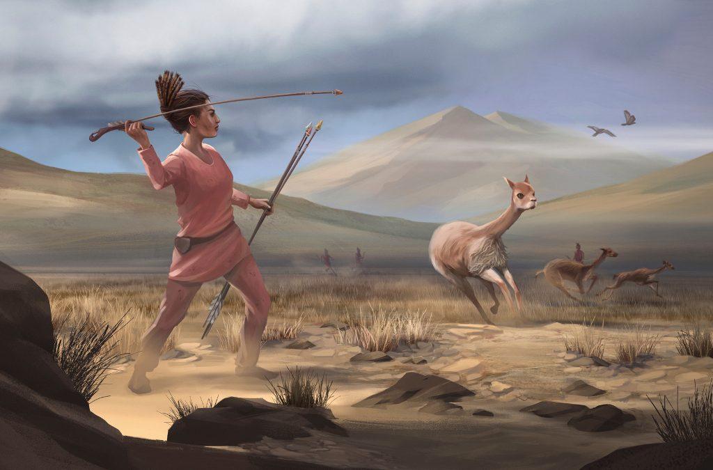 Αναπαράσταση γυναίκας κυνηγού βασισμένη στα ευρήματα της αρχαιολογικής περιοχής Wilamaya Patjxa, © Matthew Verdolivo