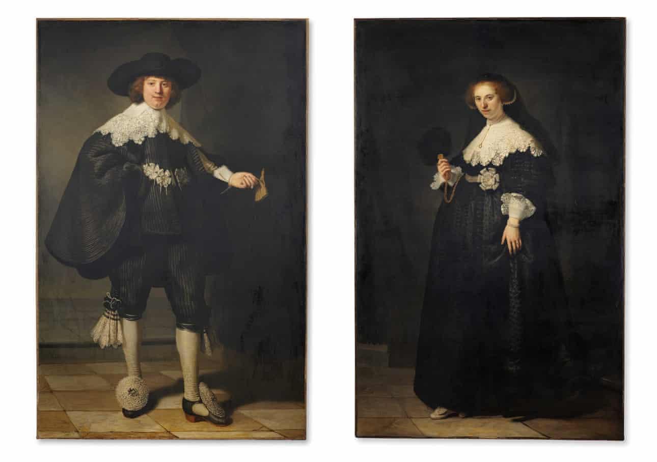 Ρεμπράντ, Marten Soolmans και Oopjen Coppit, φωτογραφία Rijksmuseum