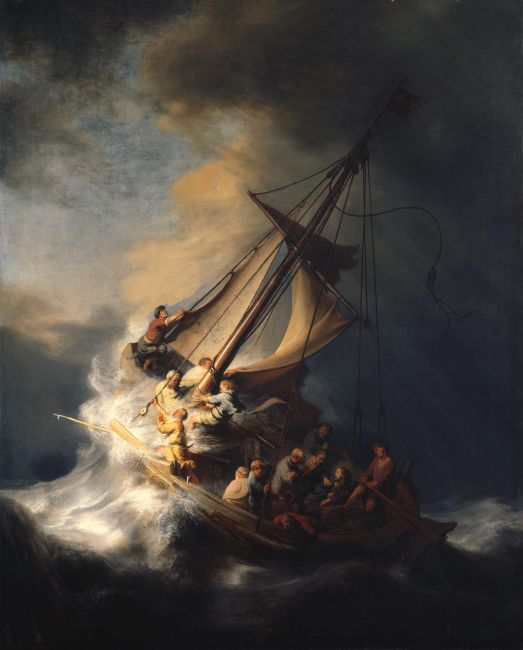 Το πιο γνωστό έργο ανάμεσα στα κλοπιμαία είναι το έργο του Ρέμπραντ, «Καταιγίδα στη θάλασσα της Γαλιλαίας» . Αποτελεί τη μοναδική θαλασσογραφία του Ολλανδού ζωγράφου. © Isabella Stewart Gardner Museum