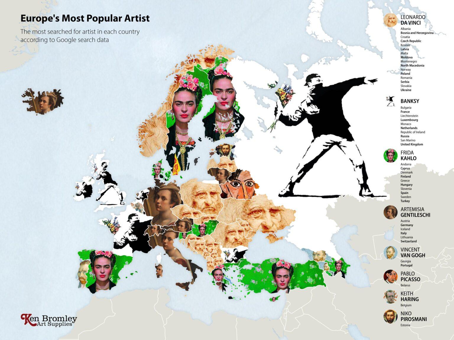 Οι πιο δημοφιλείς καλλιτέχνες στην Ευρώπη, Φωτογραφία/credits: Ken Bromley Art Supplies