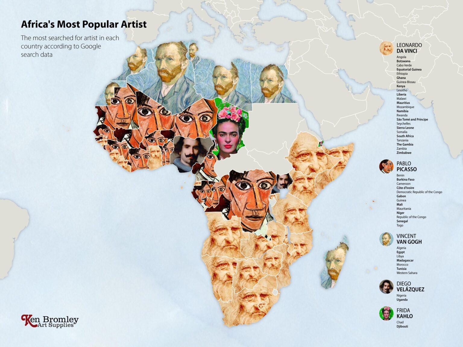 Οι πιο δημοφιλείς καλλιτέχνες στην Αφρική, Φωτογραφία/credits: Ken Bromley Art Supplies