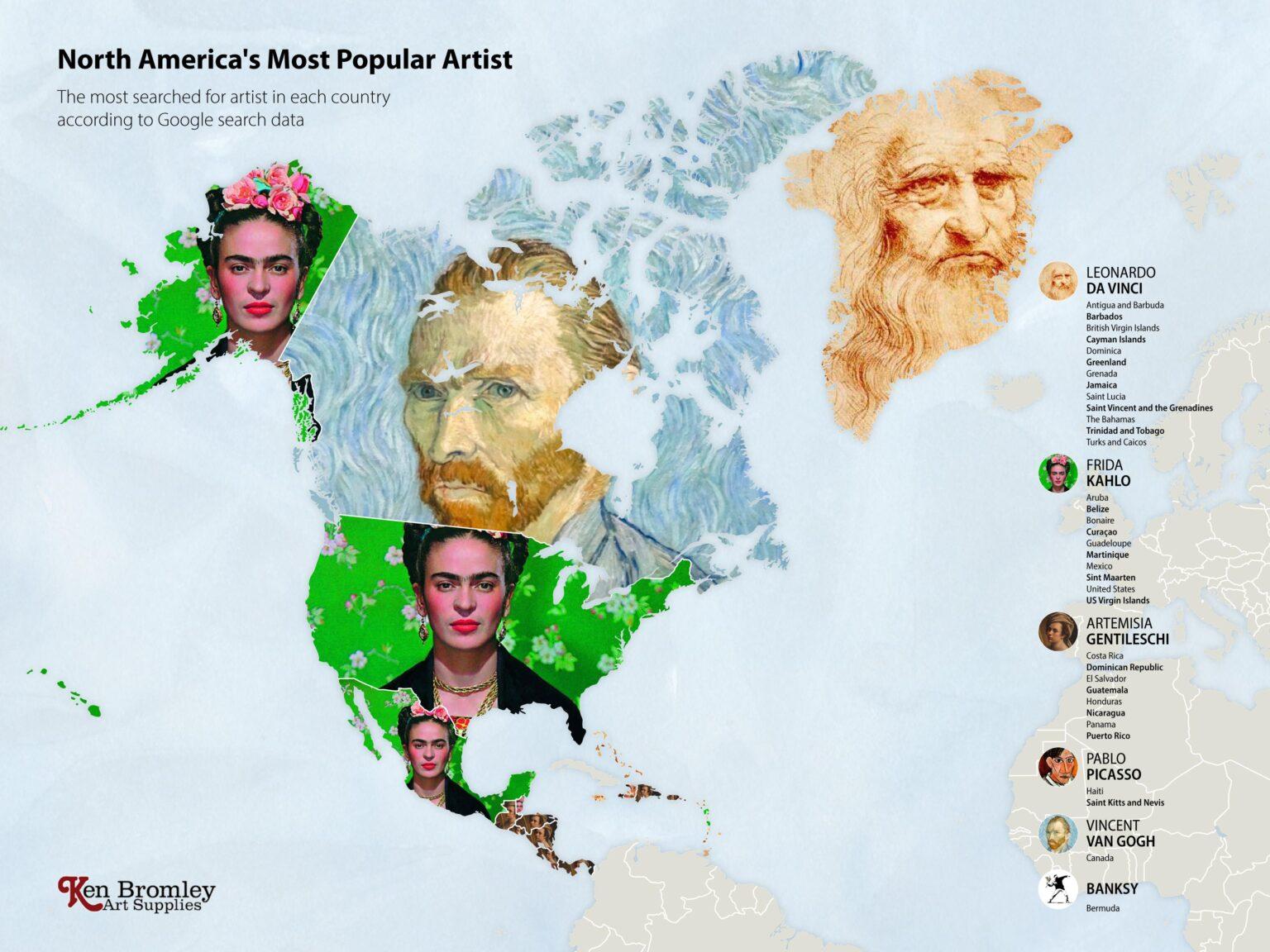 Οι πιο δημοφιλείς καλλιτέχνες στην Βόρεια Αμερική, Φωτογραφία/credits: Ken Bromley Art Supplies