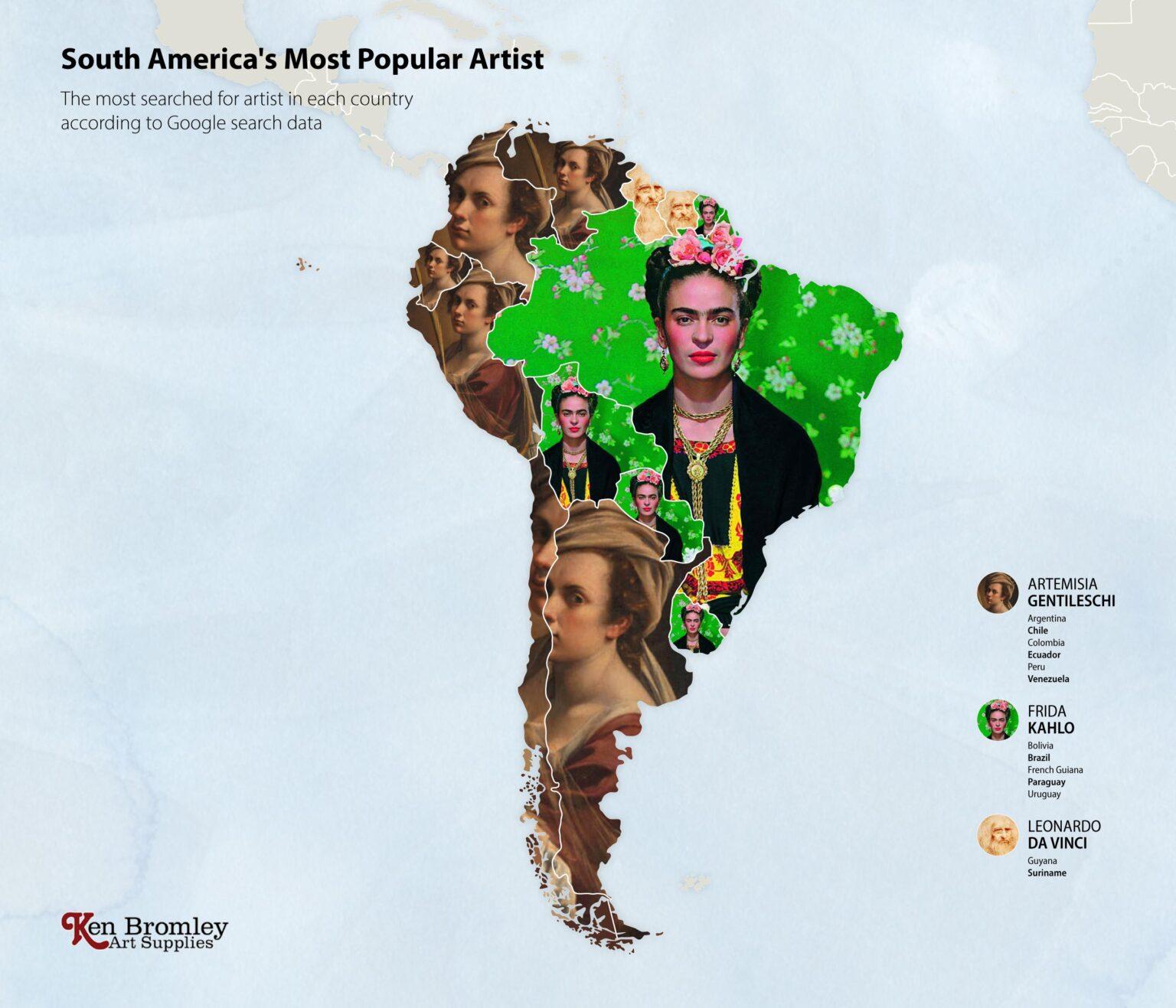 Οι πιο δημοφιλείς καλλιτέχνες στην Νότια Αμερική, Φωτογραφία/credits: Ken Bromley Art Supplies