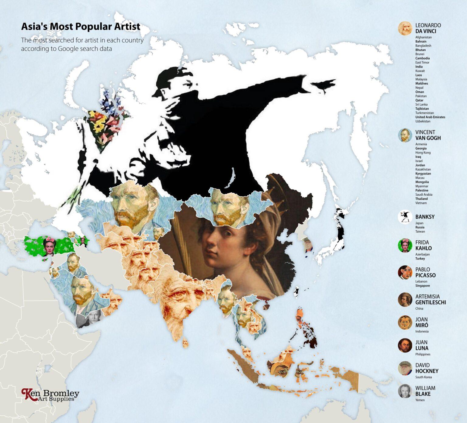 Οι πιο δημοφιλείς καλλιτέχνες στην Ασία για το 2020, Φωτογραφία/credits: Ken Bromley Art Supplies
