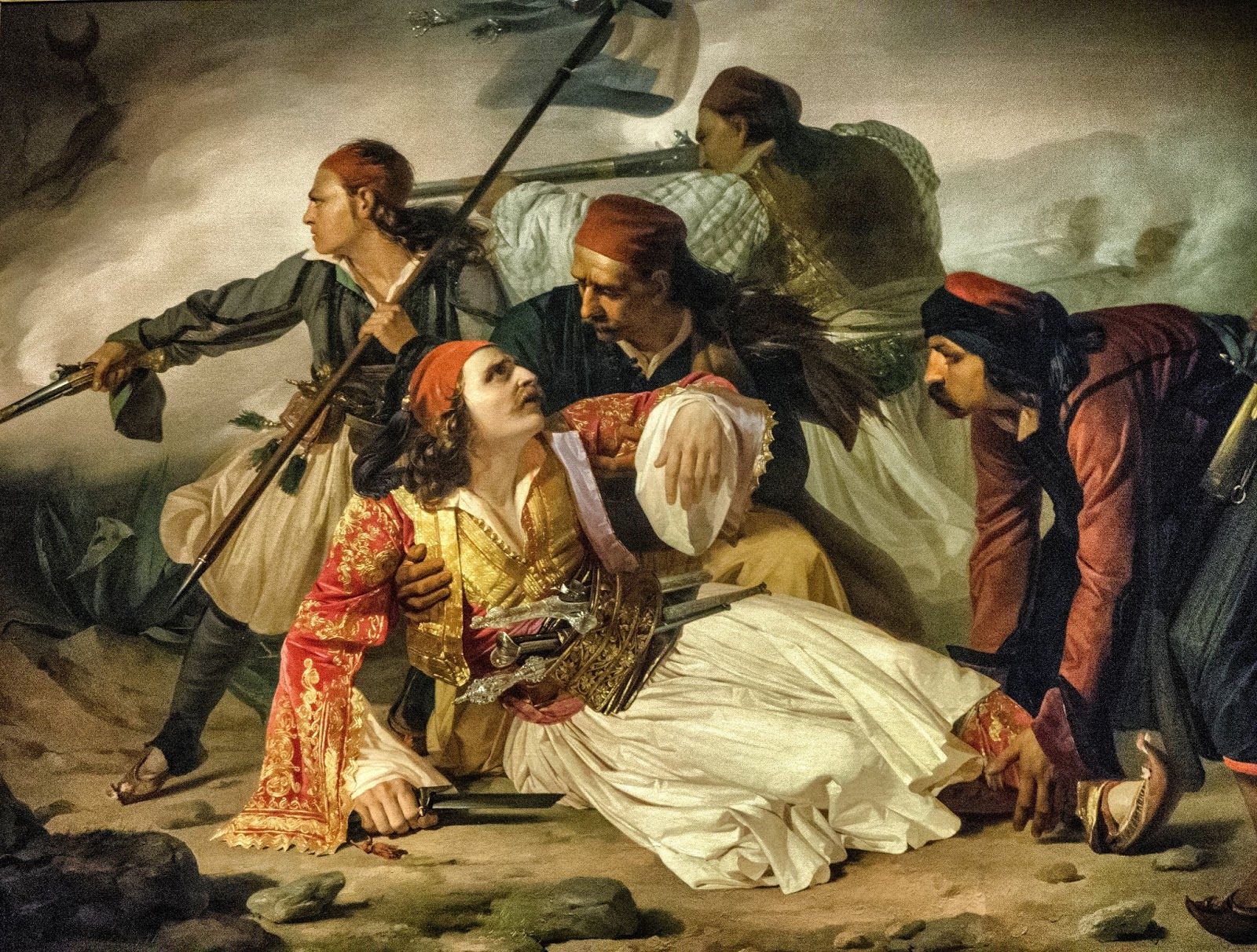 ν «Ο θάνατος του Μάρκου Μπότσαρη» (1841), Δημοτικό Μουσείο Τεργέστης