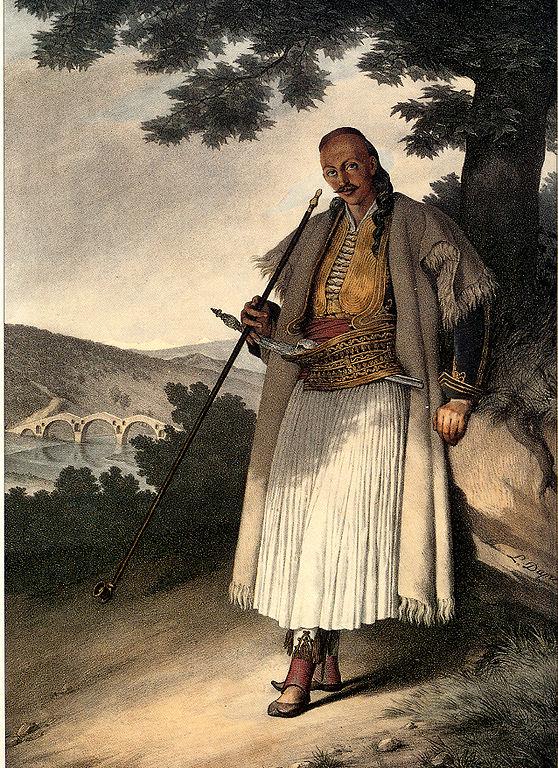 """""""Έλληνας πολεμιστής από τα Γιάννενα"""" (1820)"""