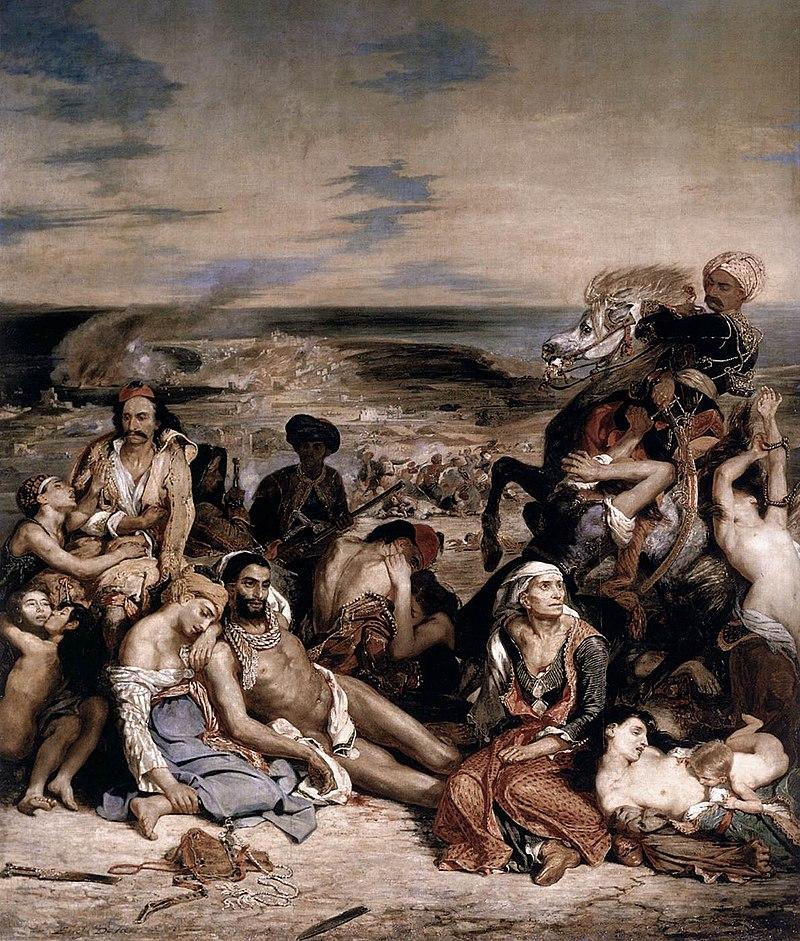 Ευγένιος Ντελακρουά, Η σφαγή της Χίου (1824), Λούβρο