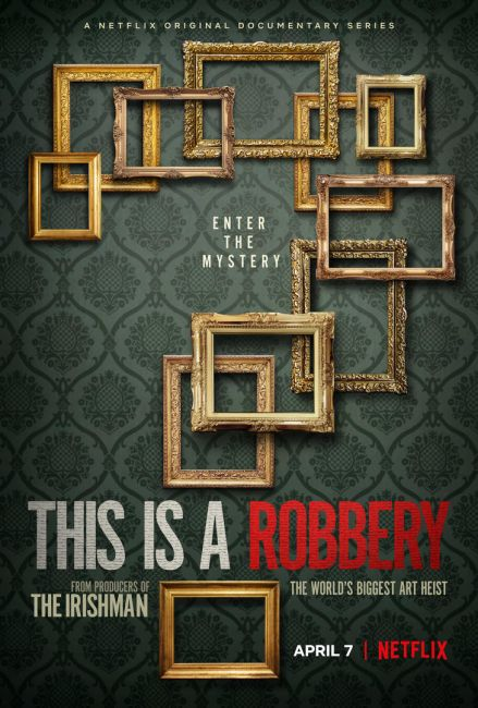 H επίσημη αφίσα της σειράς This Is a Robbery. © Netflix
