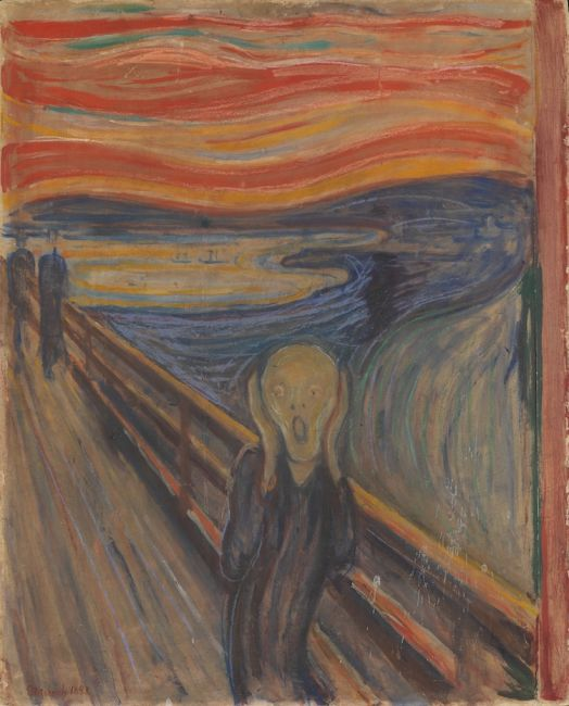 "Edvard Munch, ""The Scream"" (1893) / Φωτογραφία: National Gallery of Norway via Wikimedia Commons Public Domain"