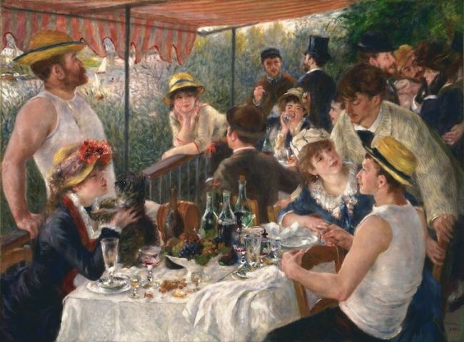 """Pierre-Auguste Renoir """"Luncheon of the Boating Party"""" (1880-1881) / Φωτογραφία: The Phillips Collection via Google Arts & Culture Public Domain"""