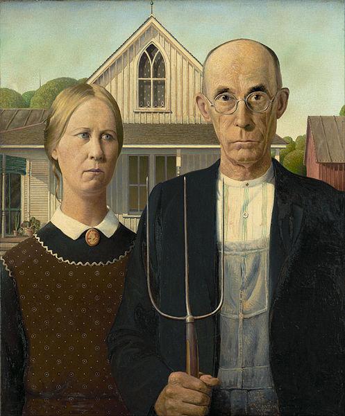 "Grant Wood, ""American Gothic"" (1930) / Φωτογραφία: Google Arts & Culture via Wikimedia Commons Public Domain"