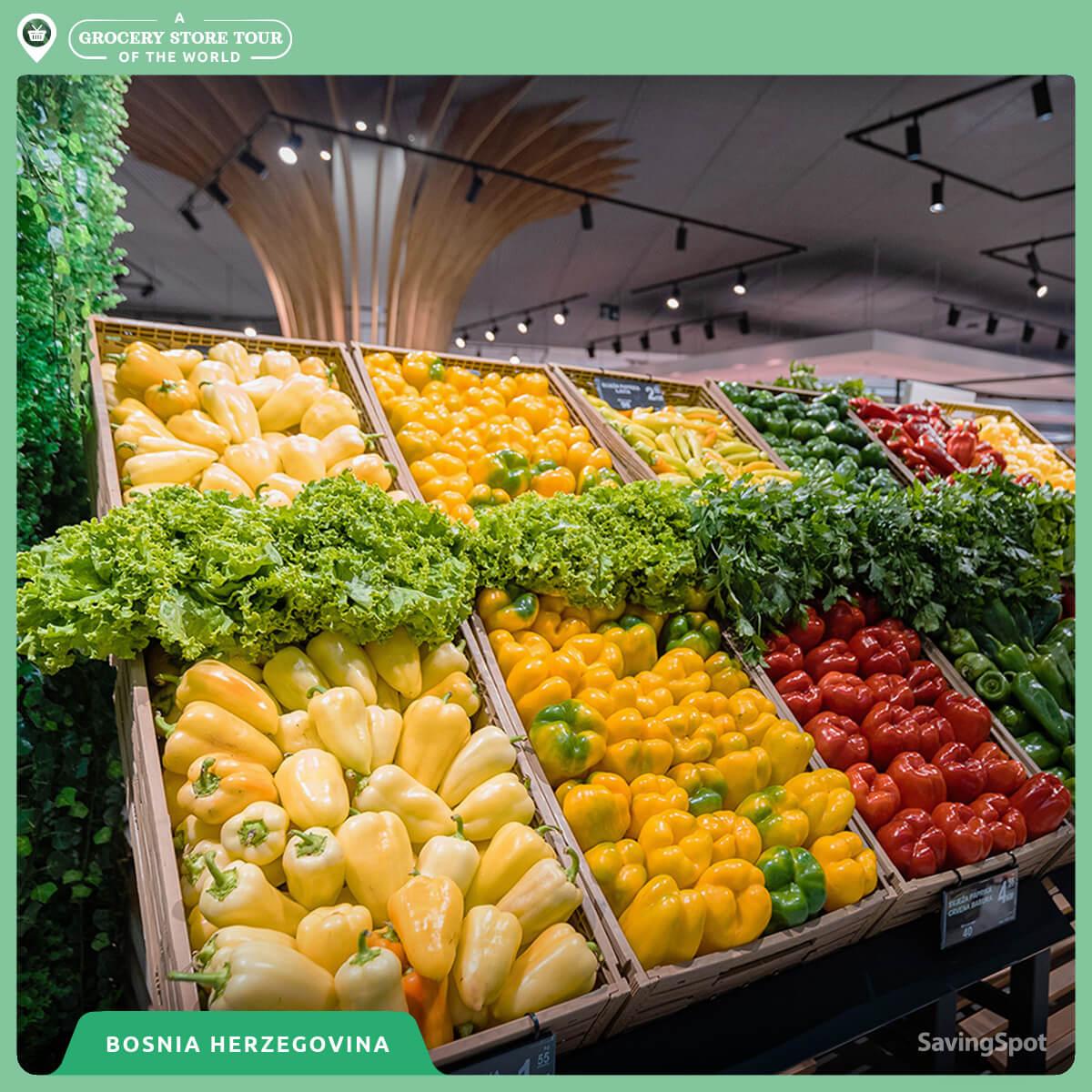 Ο διάδρομος λαχανικών στην Βοσνία - Ερζεγοβίνη. Φωτογραφία: SavingSpot