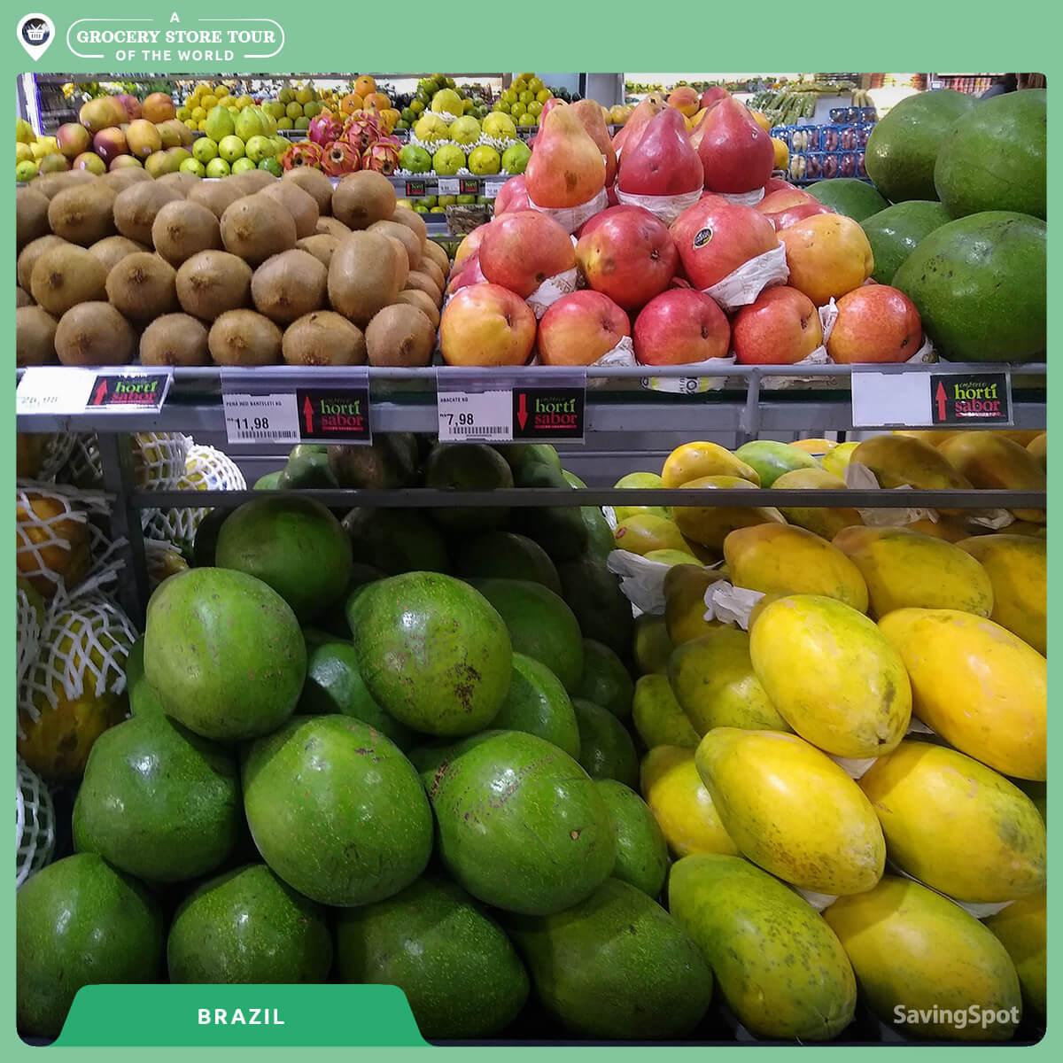 Ο διάδρομος λαχανικών και φρούτων στην Βραζιλία. Φωτογραφία: SavingSpot