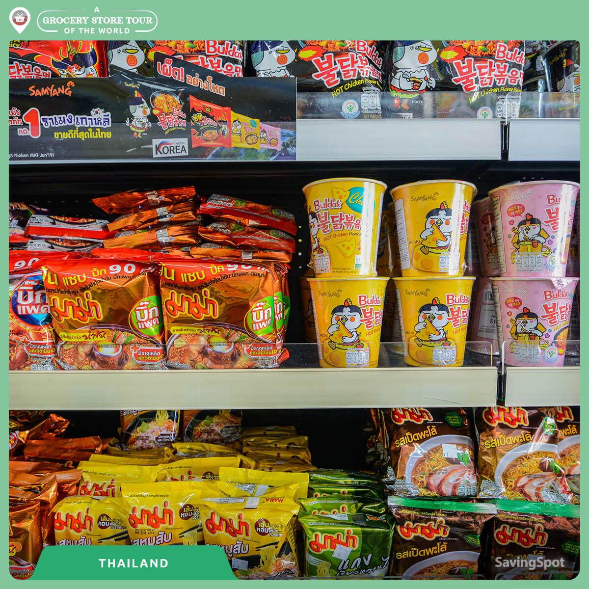 Η μεγάλη ποικιλία noodles στην Ταϊλάνδη. Φωτογραφία: SavingSpot