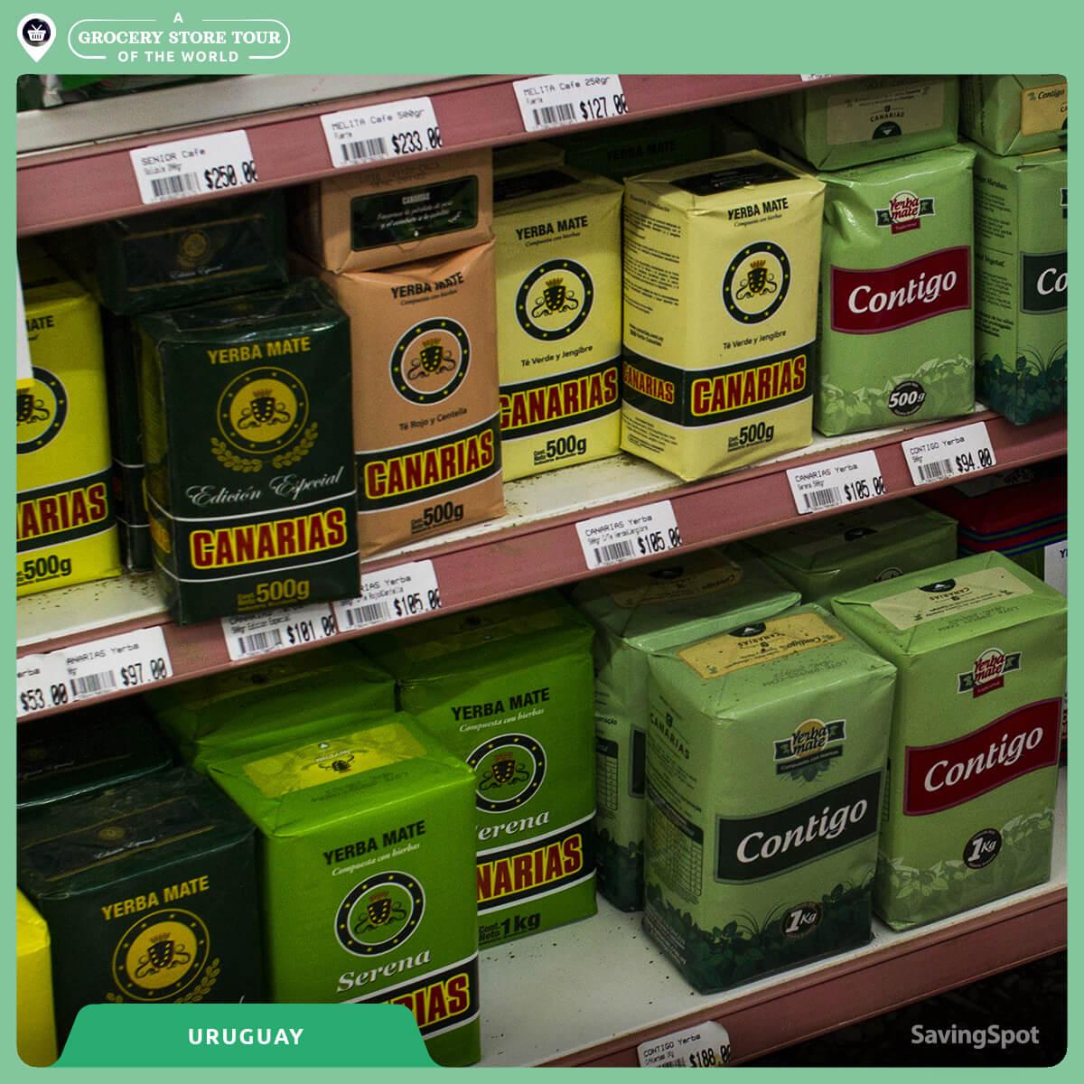 Η μεγάλη ποικιλία τσάι yerba mate στην Ουρουγουάη. Φωτογραφία: SavingSpot