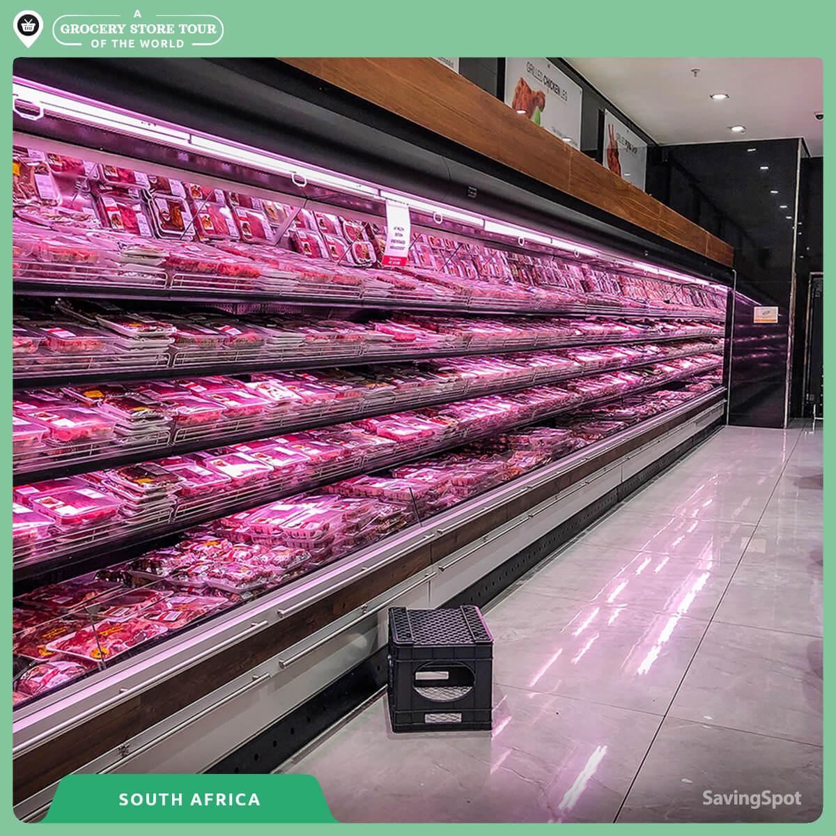 Ο διάδρομος με τα κρέατα στη Νότια Αφρική. Φωτογραφία: SavingSpot