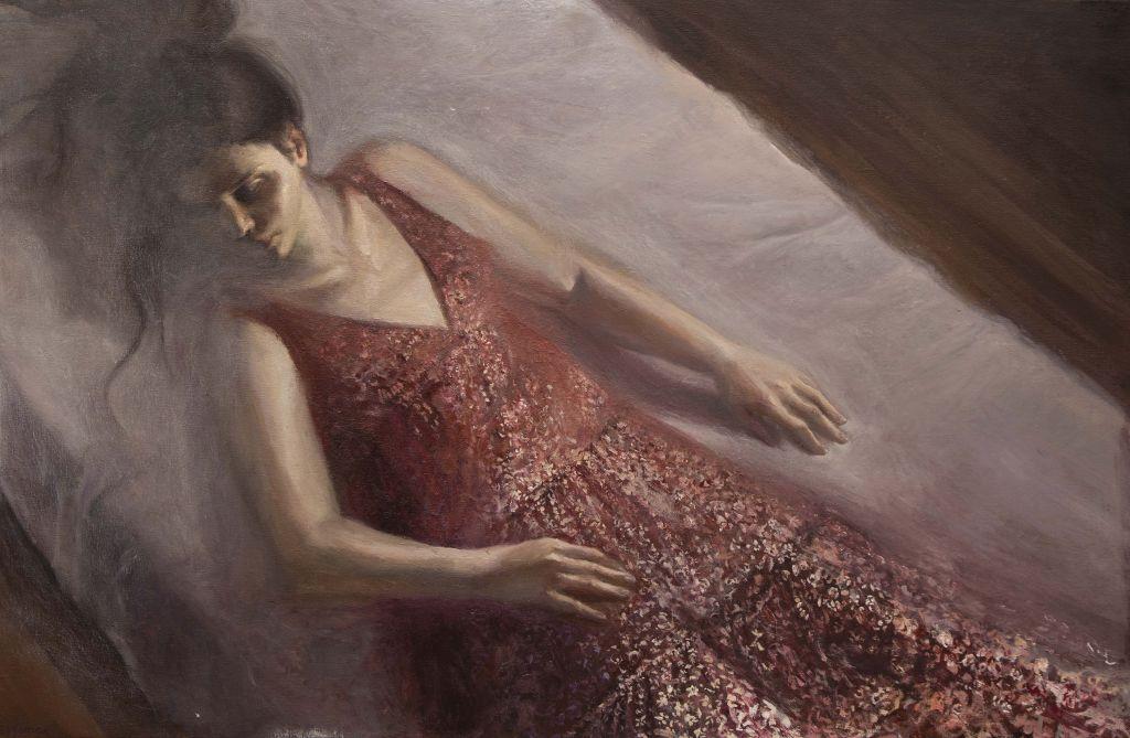 «Χριστίνα», 2021, λάδι σε μουσαμά, 60 x 90 εκ.
