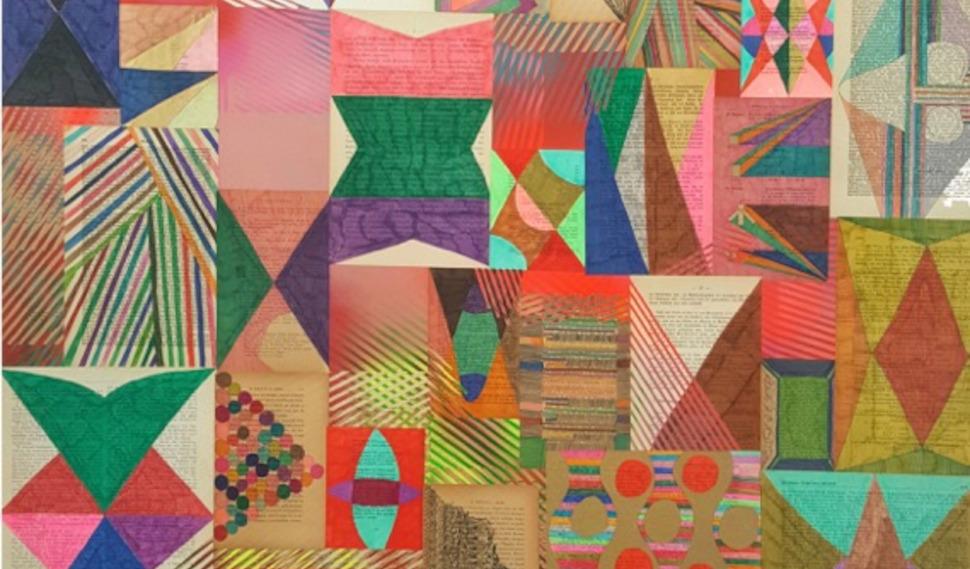 Αντώνης Ντόνεφ, Χωρίς τίτλο, 2021, μεικτή τεχνική και κολάζ σε χαρτί επικολλημένο σε καμβά, 120 x 100 εκ., Με την ευγενική παραχώρηση των Kalfayan Galleries, Αθήνα-Θεσσαλονίκη