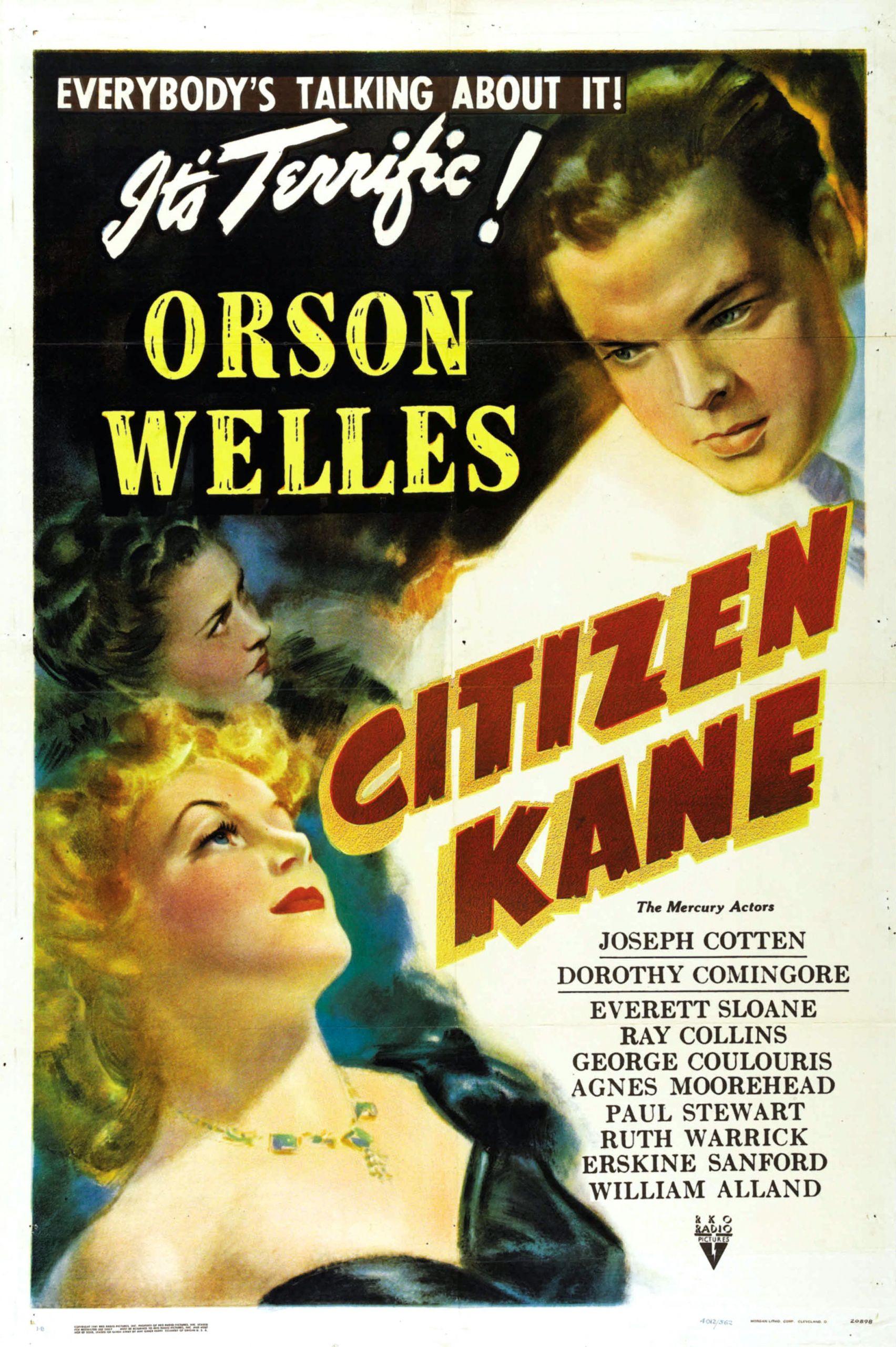 Πολίτης Κέιν, ο Όρσον Γουέλς στην αφίσα της ταινίας