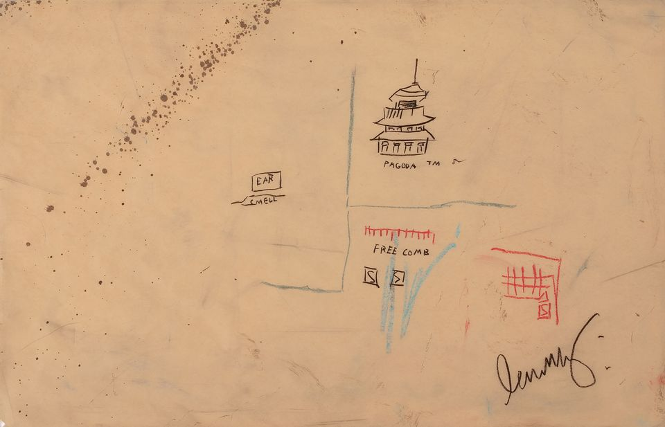 JeanMichel Basquiat, Free Comb with Pagoda, credits: DaystromNFT