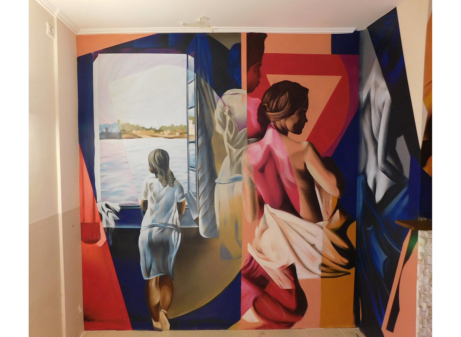 Γιώργος Χιώνης, Woman at the Window Reimagination, Αθήνα, Ελλάδα