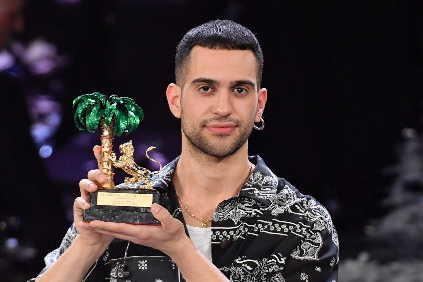 Ο Mahmood μετά τη νίκη του στο Sanremo. Φωτογραφία: Matteo Rasero/LaPresse