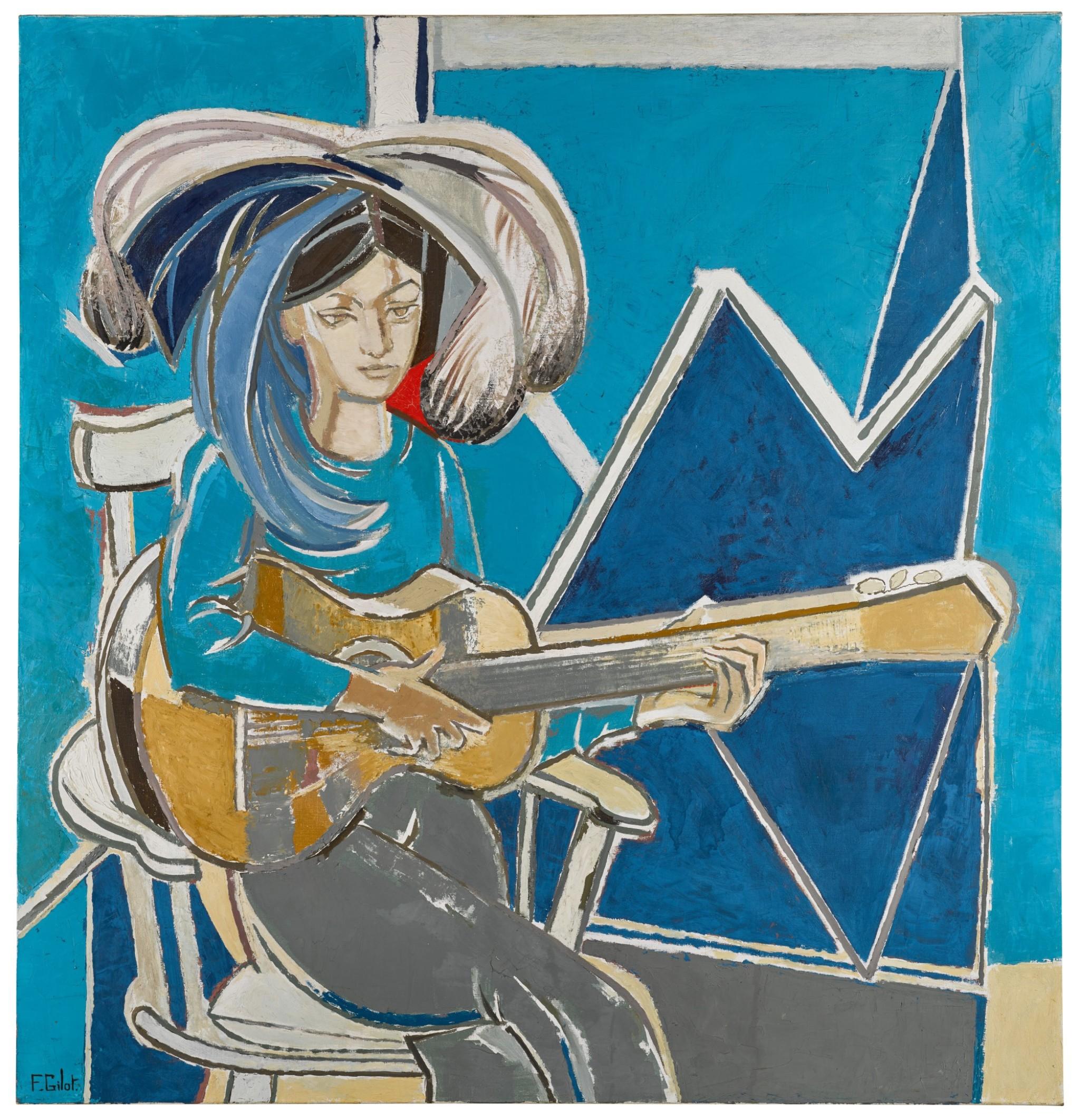 Φρανσουάζ Ζιλό, Paloma à la Guitare (1965), photo credits: Sotheby's