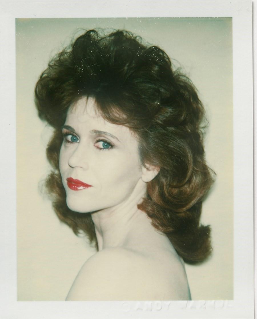 Jane Fonda, Photography Andy Warhol, courtesy of the Andy Warhol Foundation / Bastian Gallery