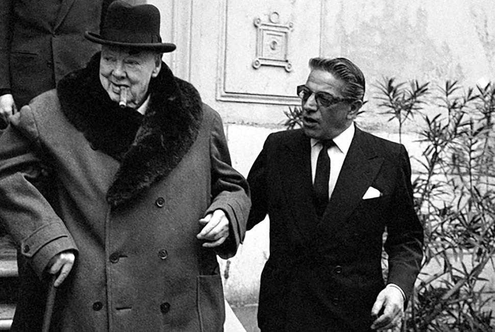 Ο Ουίνστον Τσώρτσιλ με τον Αριστοτέλη Ωνάση στο Μόντε Κάρλο το 1960, πηγή φωτογραφίας: Flickr
