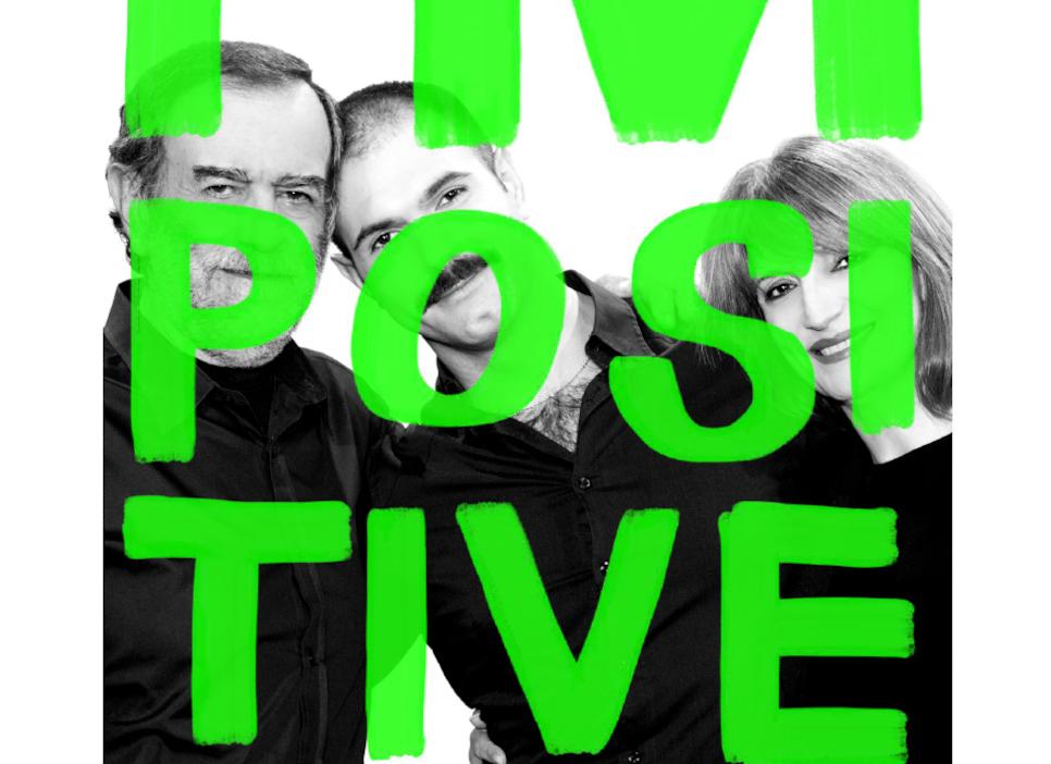 Ο Γιώργος Καρκάς με τους γονείς του για την καμπάνια I'm Positive