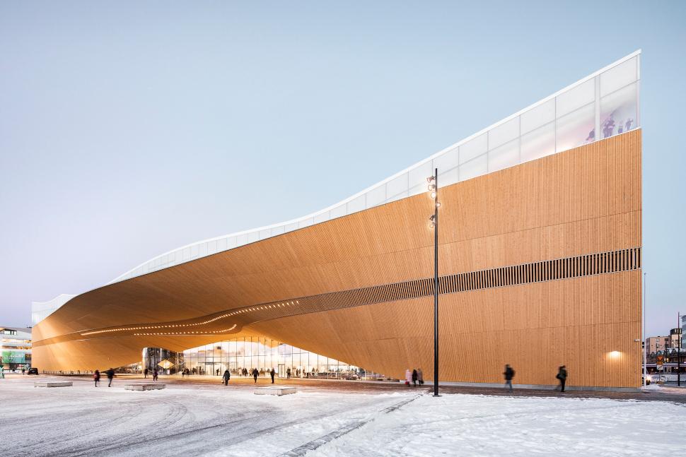 Μία από τις πιο εντυπωσιακές βιβλιοθήκες στη Φινλανδία, Oodi Helsinki, photo: Kuvio