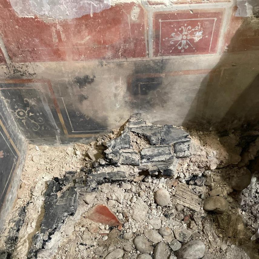 """Συντρίμμια από την """"μικρή Πομπηία"""" που βρέθηκε στη Βερόνα, Photo courtesy of the Superintendency of Archeology, Fine Arts and Landscape of Verona, Rovigo, and Vicenza, πηγή: Artnet"""