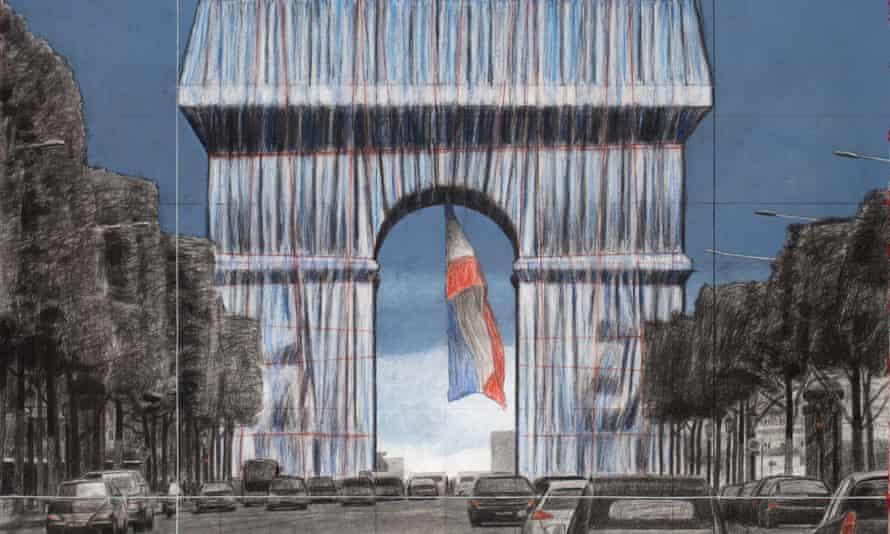 Το όραμα του Christo για την Αψίδα του Θριάμβου, Photograph: 2019 Estate of Christo Javacheff