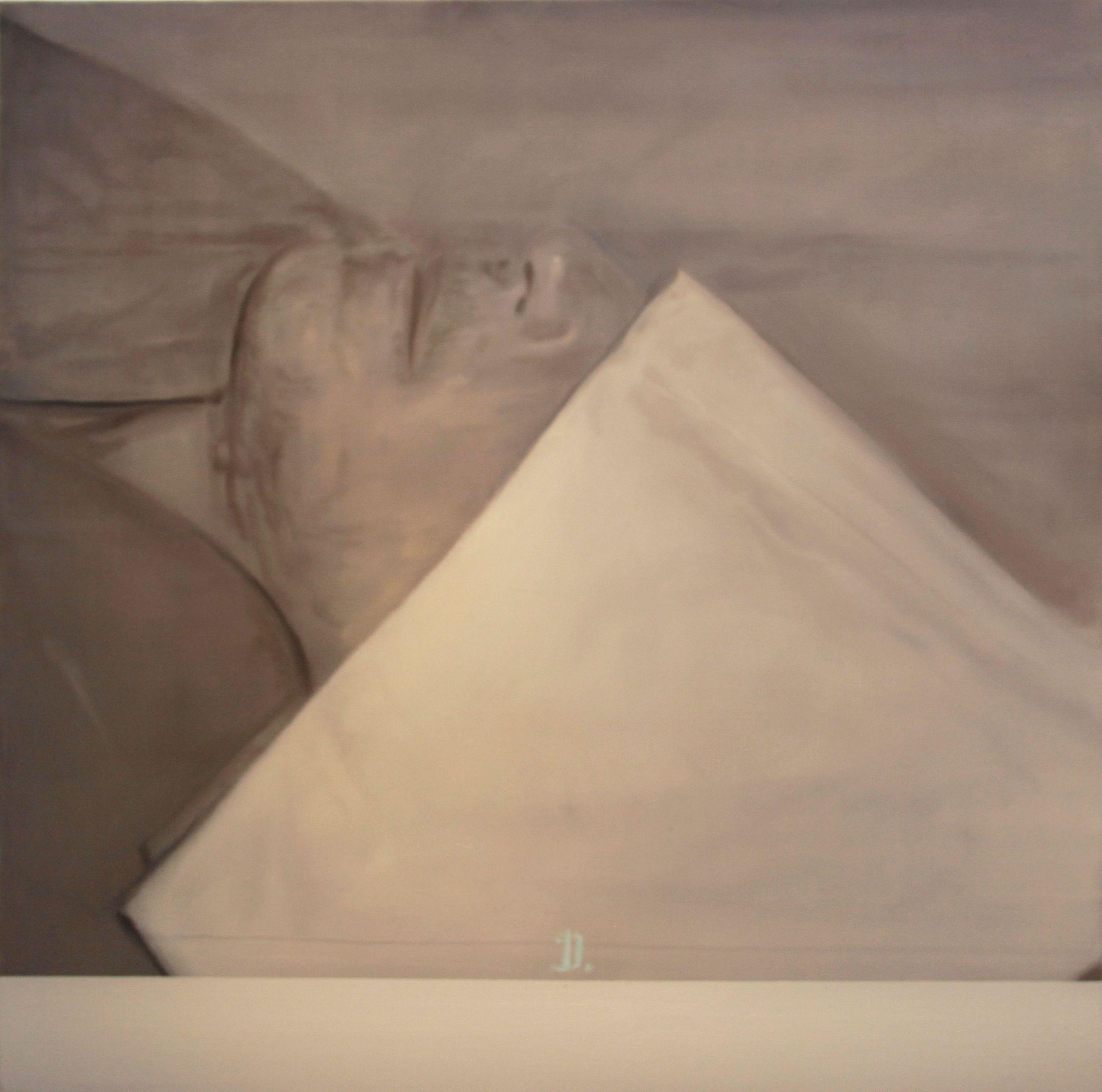 Βαγγέλης Γκόκας - D., 2011, λάδι σε μουσαμά, 110 x 110 εκ.