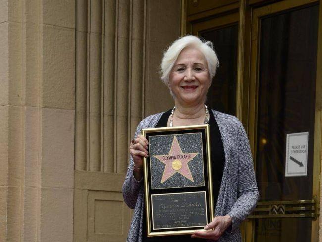 H Ολυμπία Δουκάκη όταν τιμήθηκε με αστέρι στο Hall of Fame