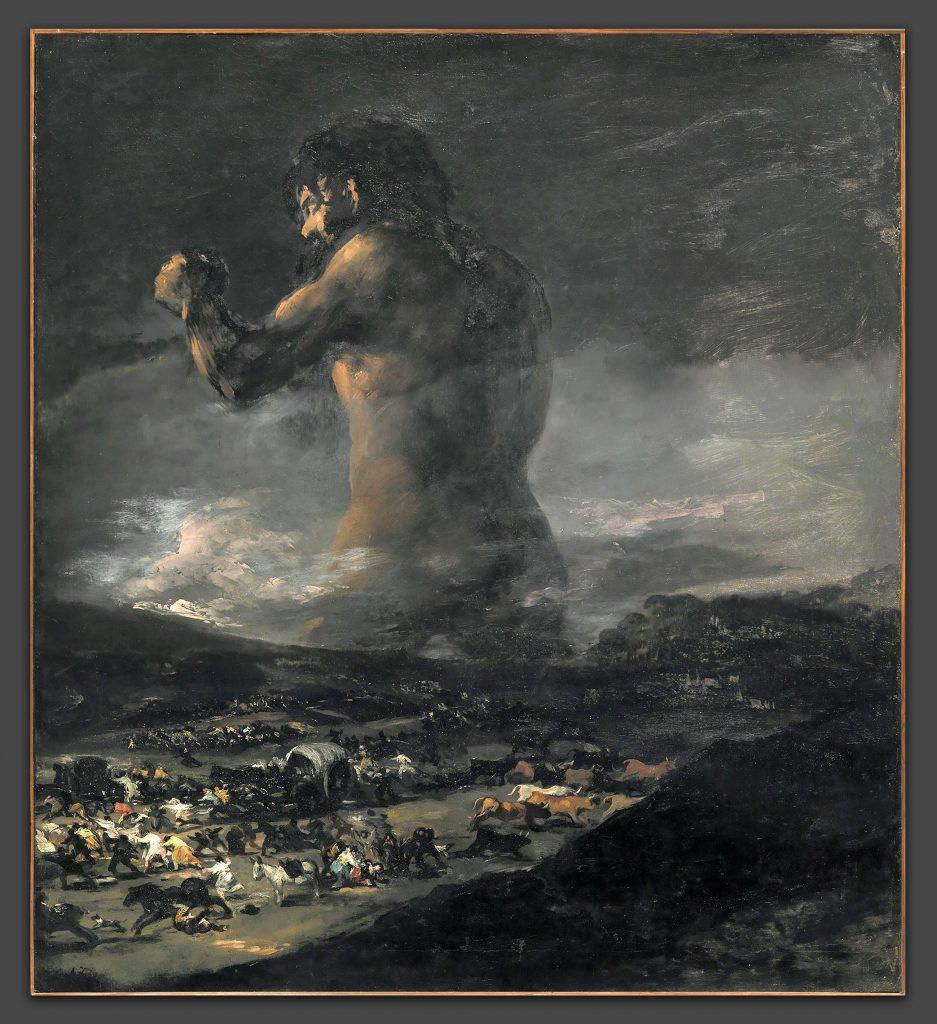 Φρανθίσκο Γκόγια, Ο Κολοσσός (1818–25). Courtesy of Museo Nacional del Prado, Madrid.