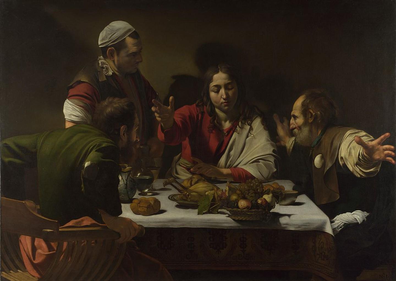 Καραβάτζο, Δείπνο στους Εμμαούς, 1602. Φωτογραφία: Caravaggio/WikiCommons