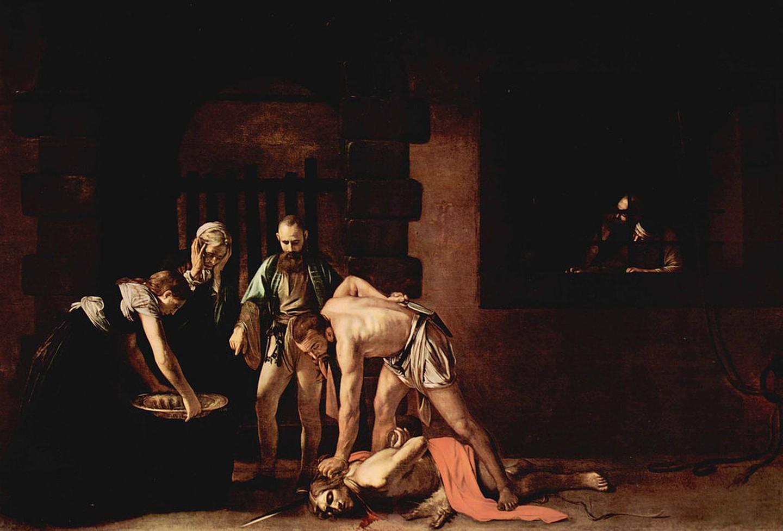 Ο αποκεφαλισμός του Ιωάννη, 1608. Φωτογραφία: Caravaggio/WikiCommons