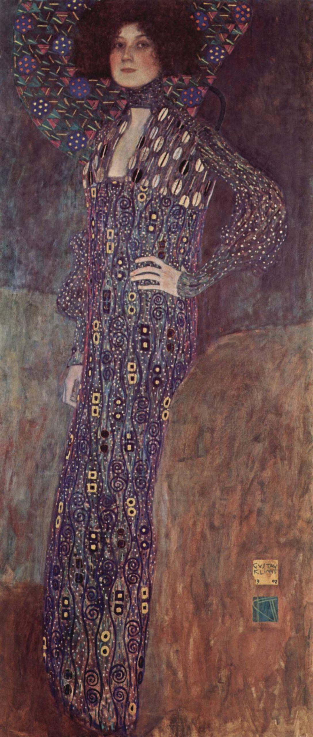 Γκούσταφ Κλιμτ, Πορτρέτο της Εμίλιε Φλέγκε, 1902. Φωτογραφία: Vienna Museum/WikiCommons