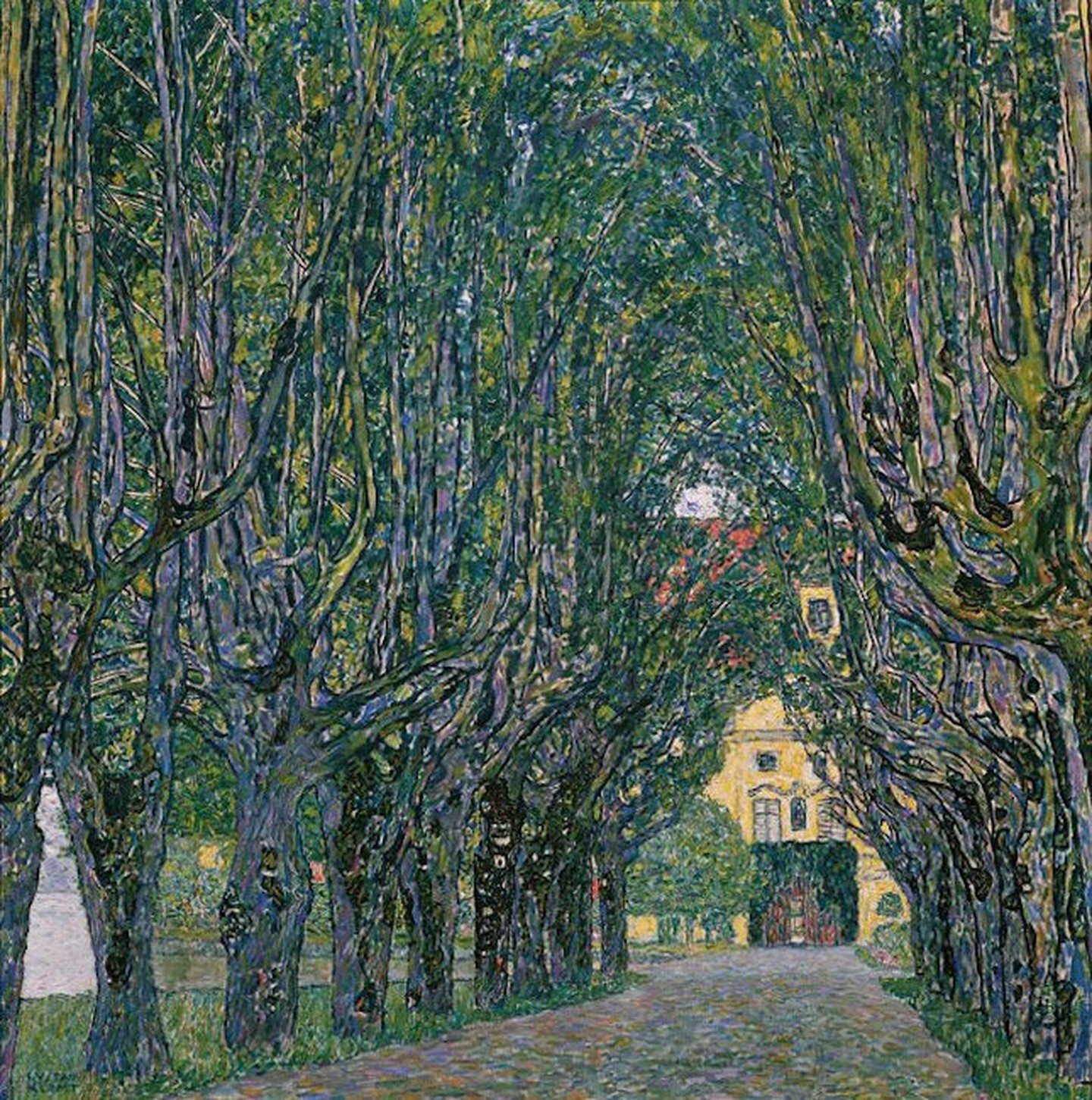 Γκούσταφ Κλιμτ, Δενδροστοιχία στο Σλος Κάμερ, 1912. Φωτογραφία: Österreichische Galerie Belvedere/WikiCommons