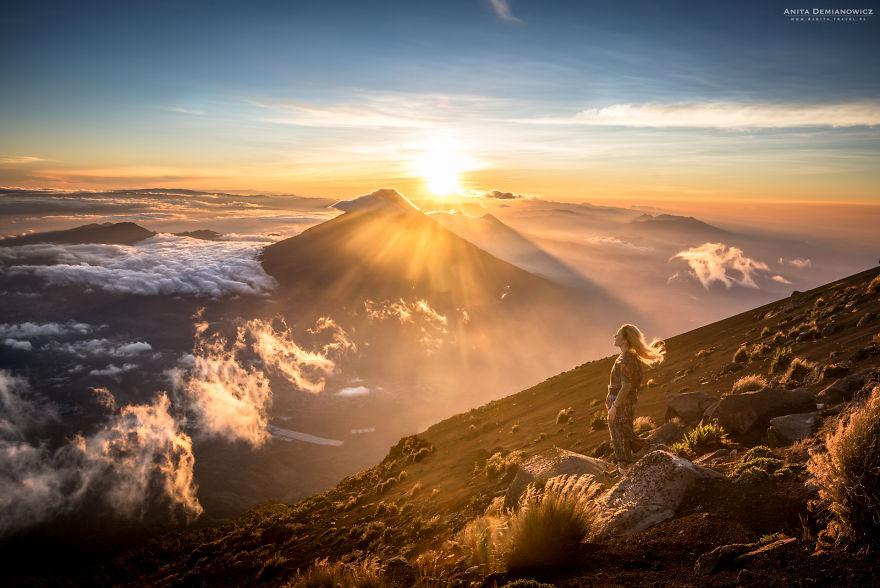 Στο ηφαίστειο της Γουατεμάλα. Photo Credits: Anita Demianowicz
