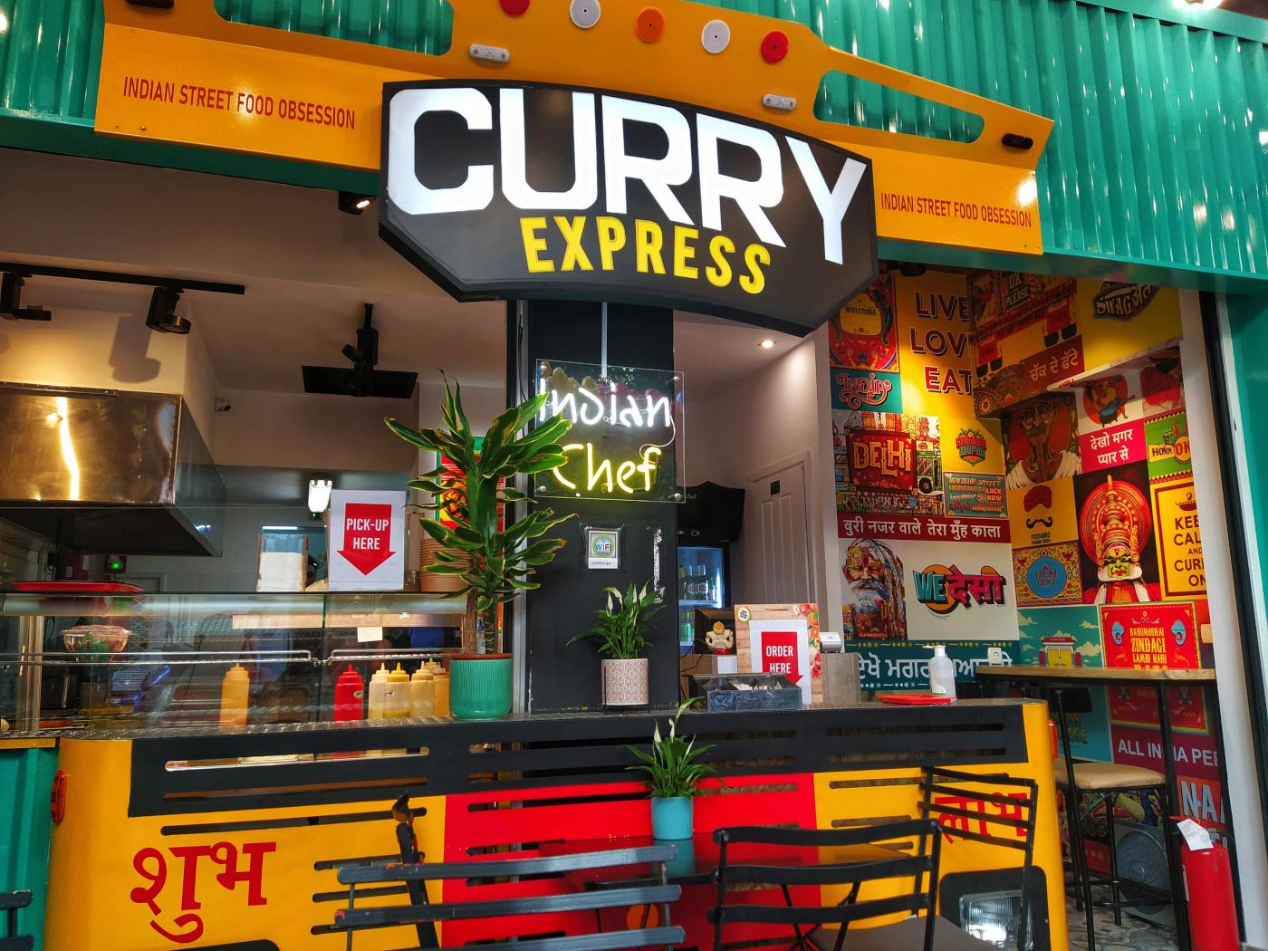 Το πολύχρωμο Curry Express που μας εφτιαξε τη διάθεση, φωτογραφία: monopoli.gr