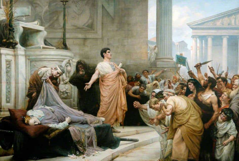 Η ομιλία του Μάρκου Αντώνιου μετά την δολοφονία του Ιούλιου Καίσαρα, του George Edward Robertson