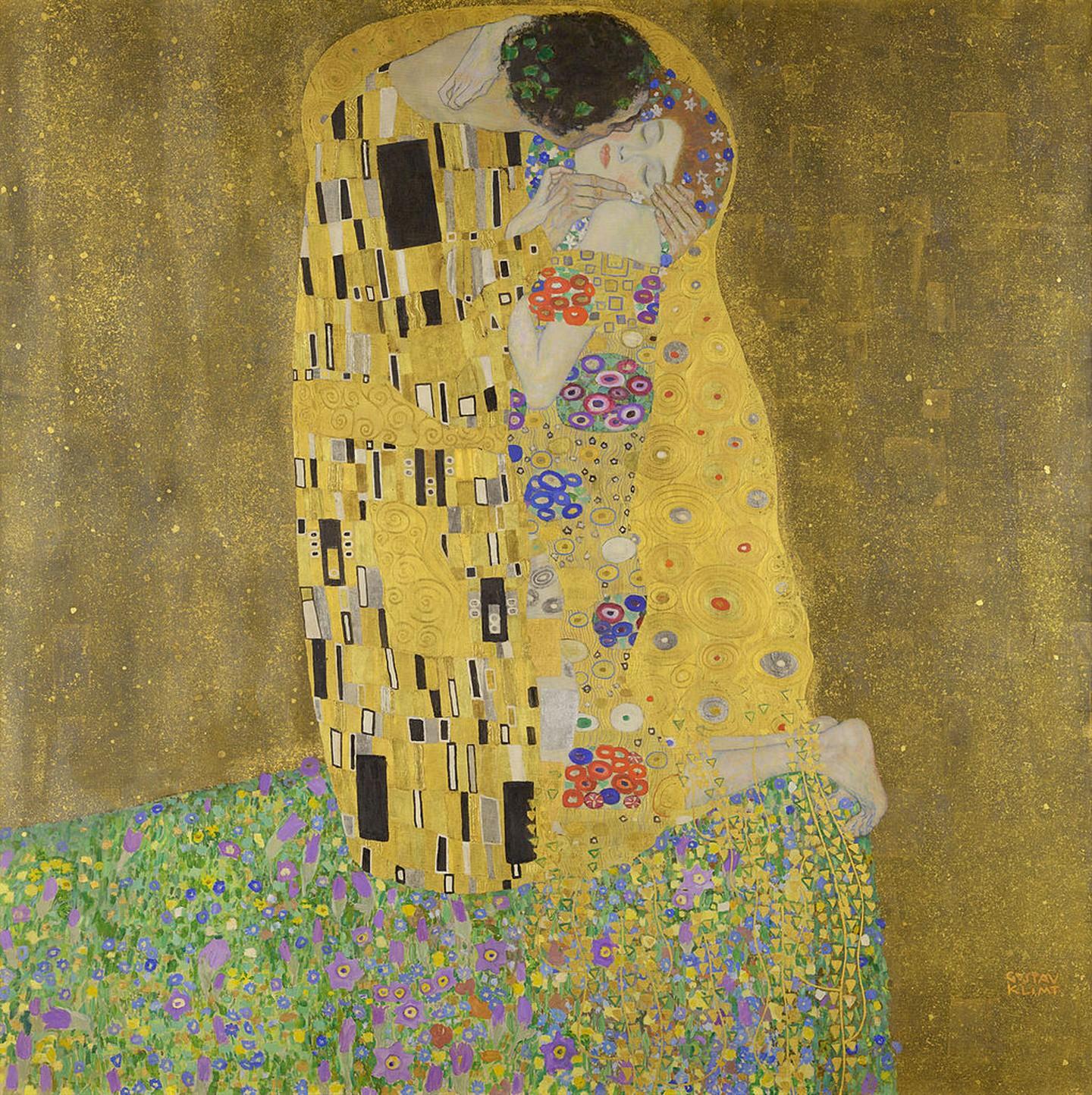 Γκούσταφ Κλιμτ, Το φιλί, 1907-1908. Φωτογραφία: Österreichische Galerie Belvedere/WikiCommons