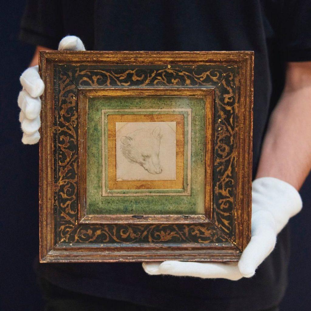 Λεονάρντο Ντα Βίντσι, Το κεφάλι μίας αρκούδας (1480). Photo courtesy of Christie's New York.
