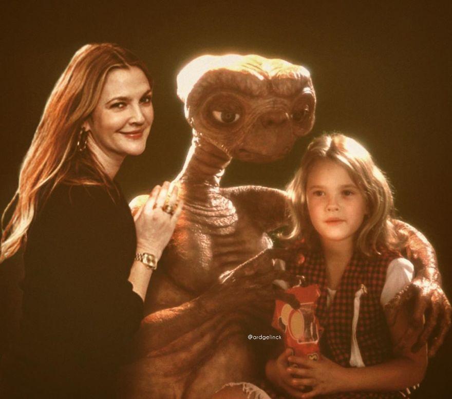 Η ηθοποίος Ντρου Μπάριμορ και ο ρόλος της, η μικρή Γκέτρι, στο E.T