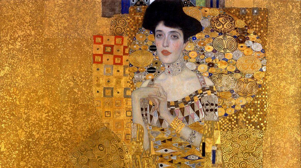 Γκούσταφ Κλιμτ, Πορτρέτο της Αντέλ Μπλοχ-Μπάουερ I, 1907. Φωτογραφία: Neue Galerie/WikiCommons