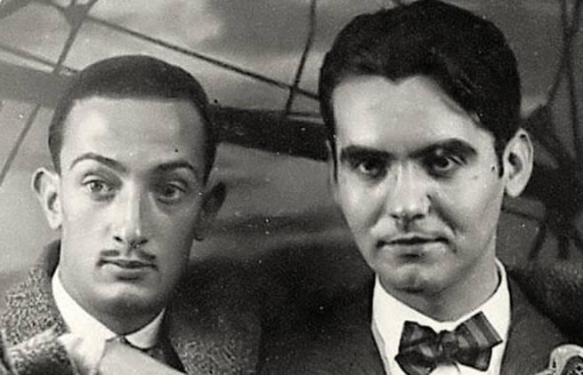 Ο Λόρκα με τον Σαλβαδόρ Νταλί
