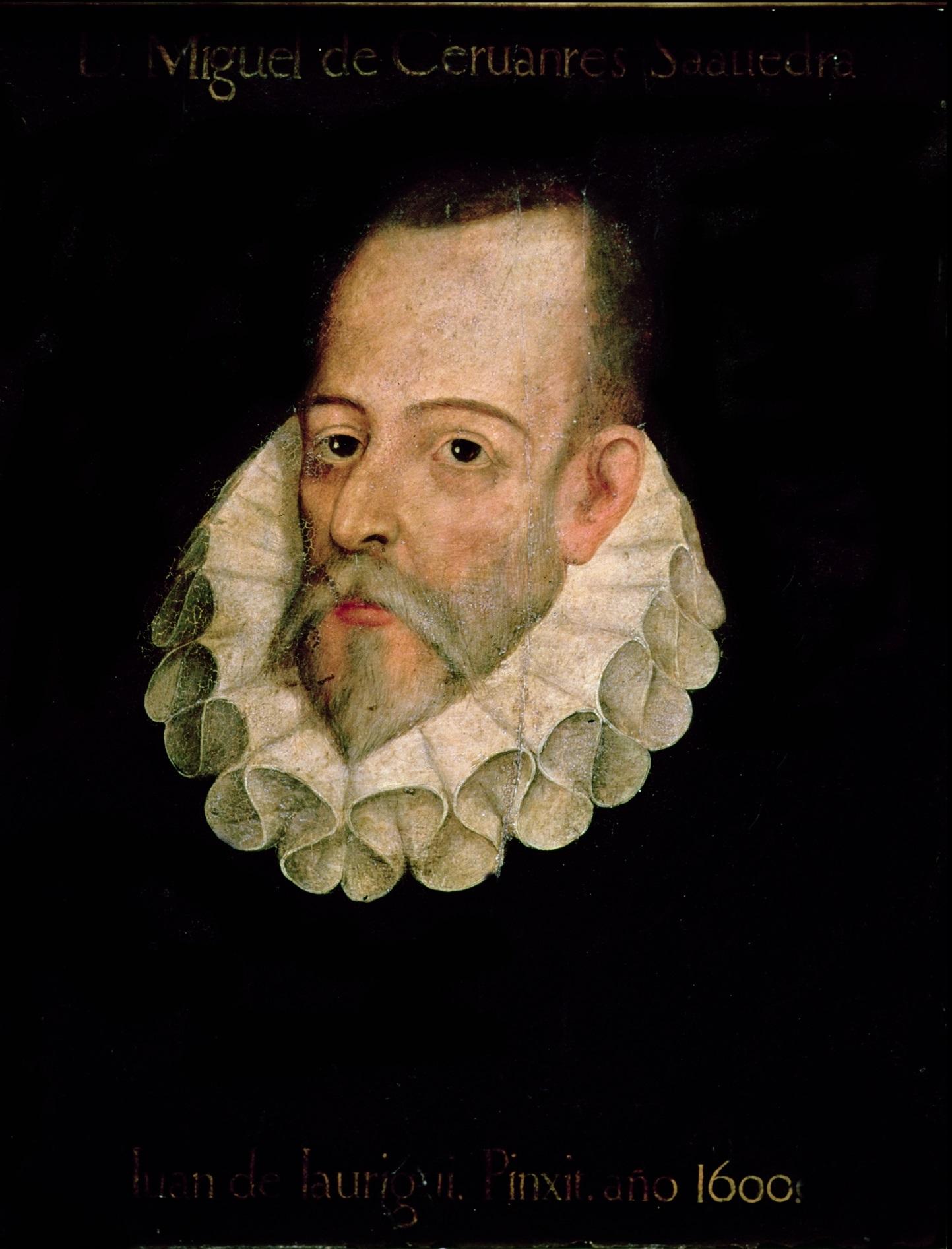 Πορτρέτο του Μιγκέλ ντε Θερβάντες από τον Χουάν ντι Χαουρέγκι. Photo Credits: Wikimedia Commons